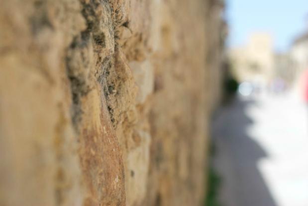 Muro pedraza piedra pueblo